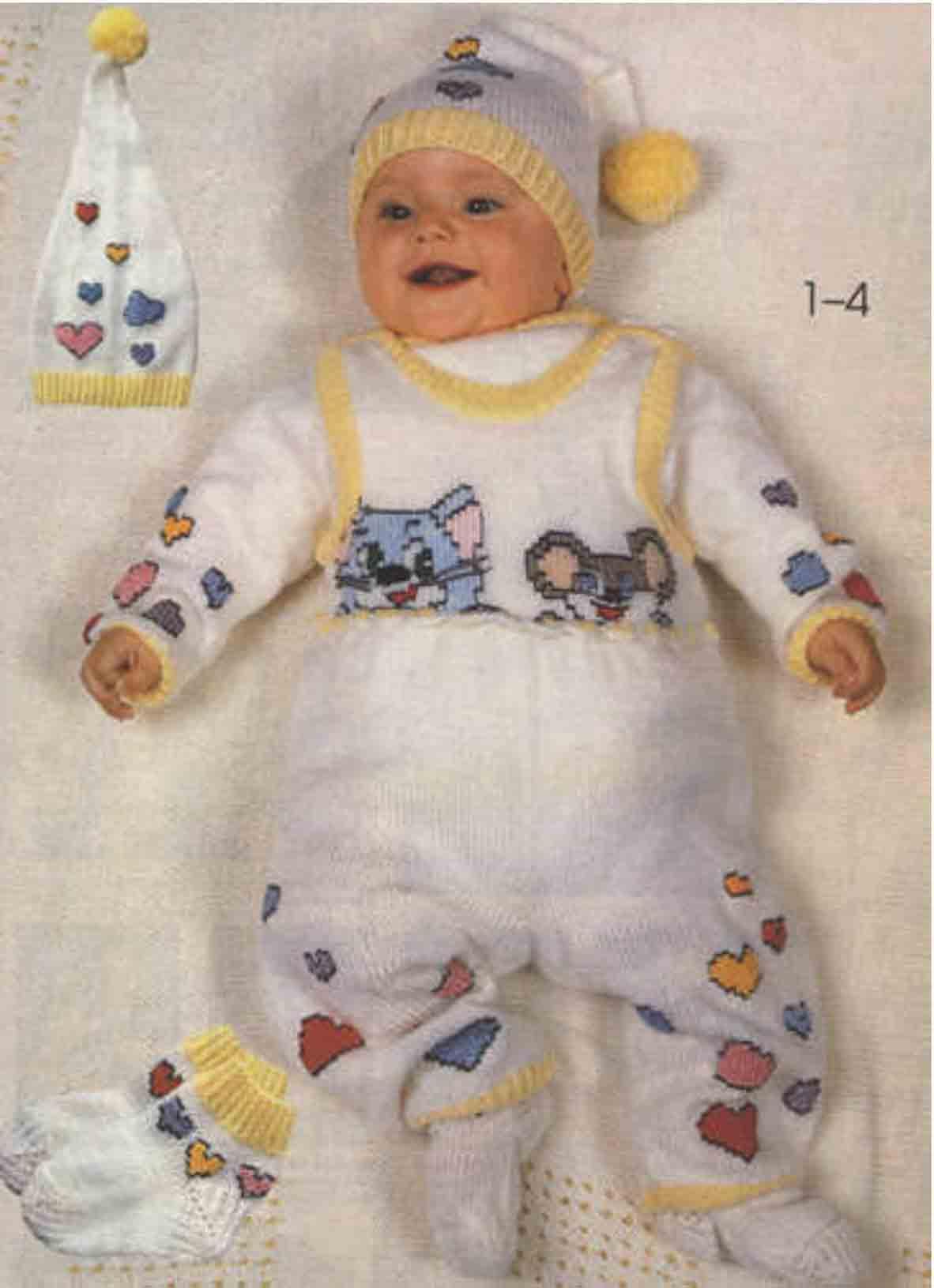 Вязание для новорожденных мальчиков 0-4 месяцев 83